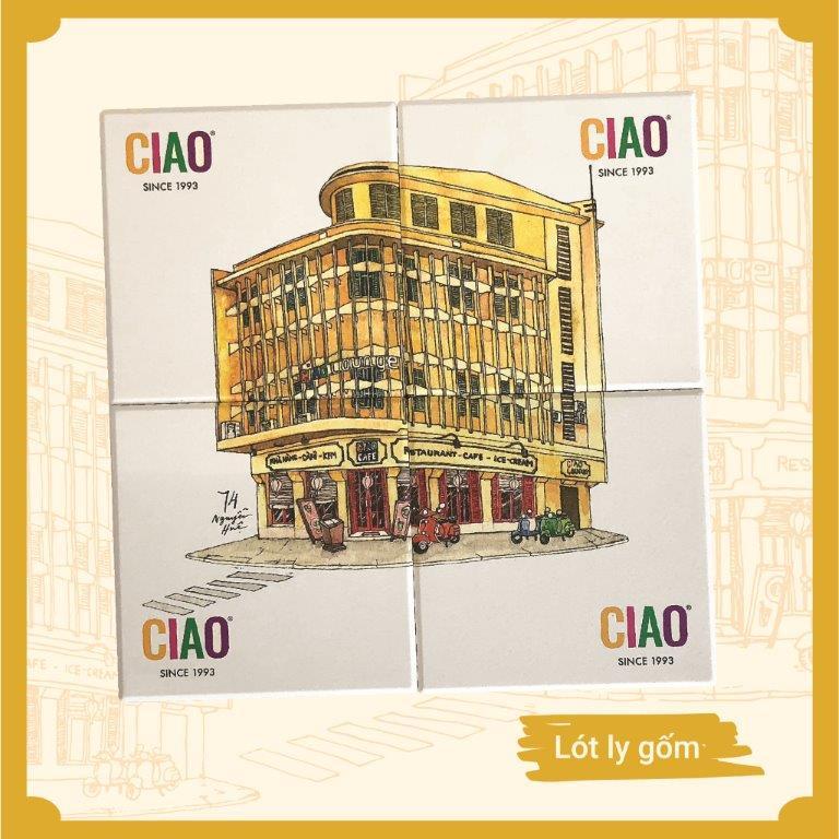 CIAO - Bộ lót ly gốm (4 Cái)